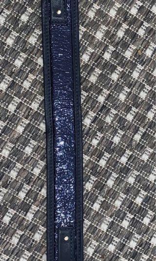 A-esque Navy Blue Metallic Handbag Strap