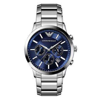 🚚 Original AR2448 Men's Armani Classic Blue Dial Watch