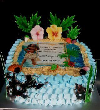 🚚 Moana theme cake