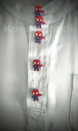 Butang Baju Melayu Viral superhero Spiderman