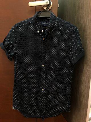 ZARA MAN Dotted Short Sleeves Shirt