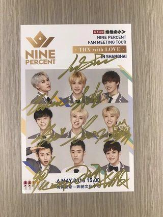 Nine Percent Officials Signatures