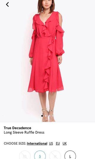 🚚 Elegant Ruffle Dress