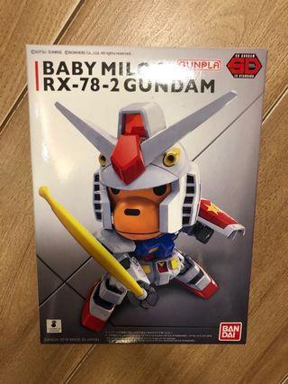Baby milo Rx 78 高達模型
