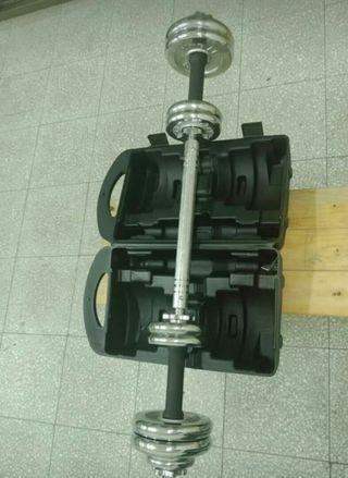 電鍍槓鈴組20公斤