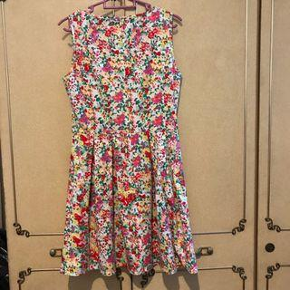 Voir floral cocktail dress
