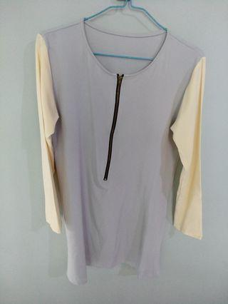 BN blouse with zip
