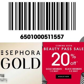 Sephora Gold Member Sales 20% Discount Event Access Privilege