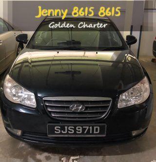 $50 Hyundai avante car for rent cheaper personal use,gojek ,tada n grab black colour.last one unit with top condition