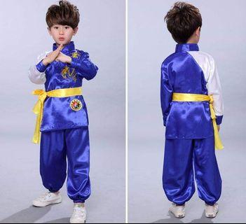 Wushu performance clothing (tee, pants, belts)