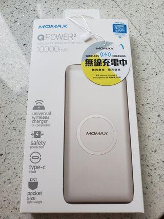 MOMAX QPOWER2 Wireless Battery Pack (10000mAh) 無線快速叉電器
