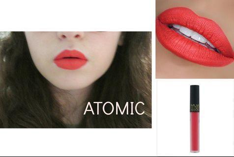 MUA Luxe velvet lip lacquer - atomic