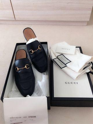 581227a132 Gucci Princetown leather slippers AUTHENTIC !