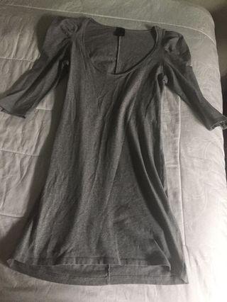 Ruffle shirt grey