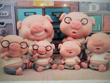 豬年噗滿 吃素小豬 粉紅豬存錢筒 存錢罐