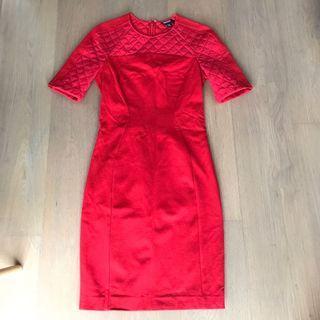 DKNY red work dress