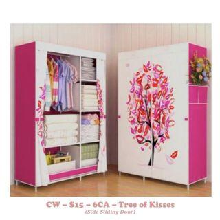 TODAY DEAL - Canvas Clothes Wardrobe Shelf (Tree of Kisses)