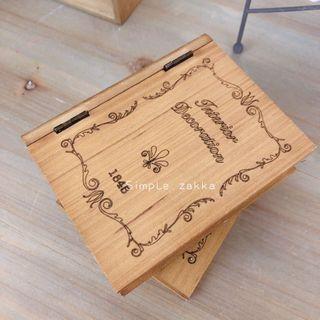 🚚 簡單雜貨-木製書本造型收納盒