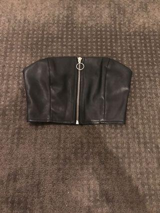 Leather bandeau