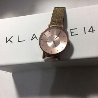 低於五折售出 官網購入 klasse 14 玫瑰金手錶 fossil cluse dw