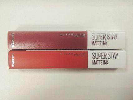 Maybelline SuperStay Matte Lipstick (80 & 205)