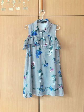 Thestagewalk TSW floral cold shoulder dress