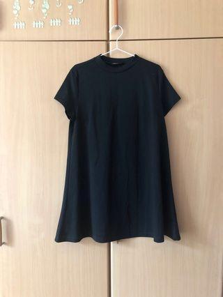 Zalora mock neck basic little black dress