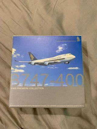 🚚 Dragon Wings 1:400 Singapore Airlines B747-400 diecast model