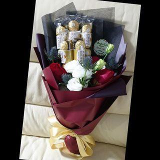 Fresh Flower Bouquet and Ferror Rocher