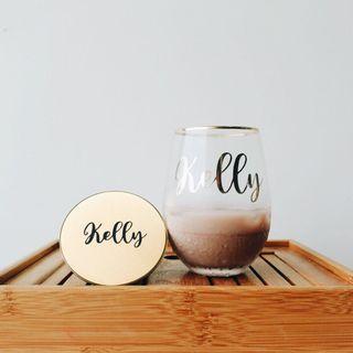 Personalised drinking glass (mug) - defective