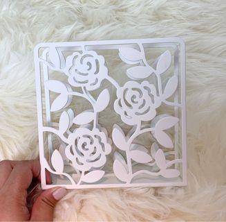 🚚 Rose Pattern Book Stand (IKEA)