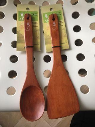 木製匙及鏟(全新)