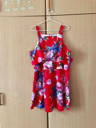 ASOS red floral dress