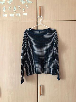 Mango striped pullover