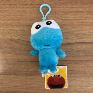 Sesame Street Cookie Monster soft toy keychain