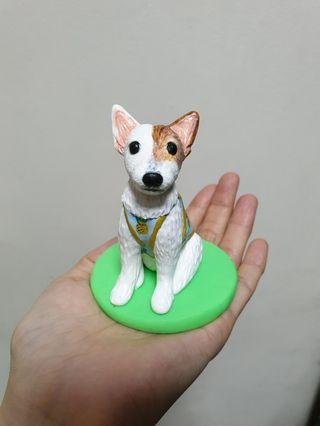 Customise dog jack russell - polymer clay