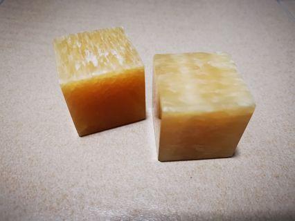 🚚 Fengshui yellow jade cubes