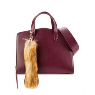 ZALORA Maroon Structured Brief Top Handle Handbag