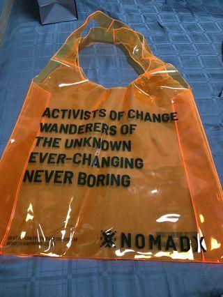 🚚 Activists of Change Neon Orange Translucent Shopping Bag