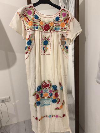 墨西哥 刺繡洋裝 全新