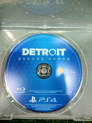 Kaset BD Only PlayStation 4 PS4 Detroit Become Human