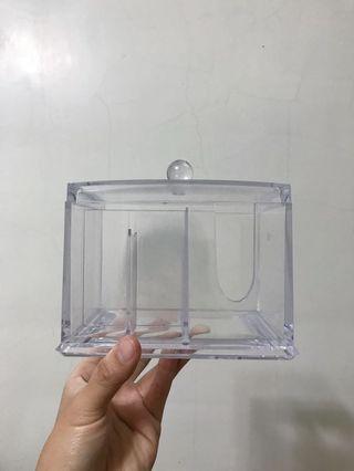 🚚 化妝棉/棒壓克力收納盒