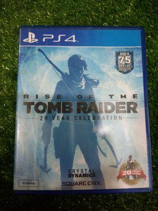 Kaset BD PlayStation 4 PS4 Rise Of The Tomb Raider 20 Years Celebration
