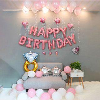 🚚 Sweet Pink Birthday Balloon Set