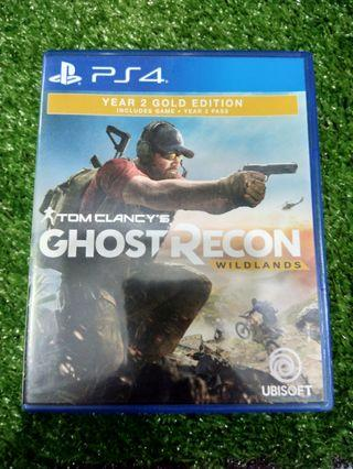 Kaset BD PlayStation 4 PS4 Tom Clancys Ghost Recon Wildlands year