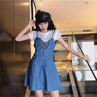 Blue bustier dress #ENDGAMEyourEXCESS