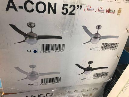 "Ceiling Fan 42""/52"" + remote+LED light"