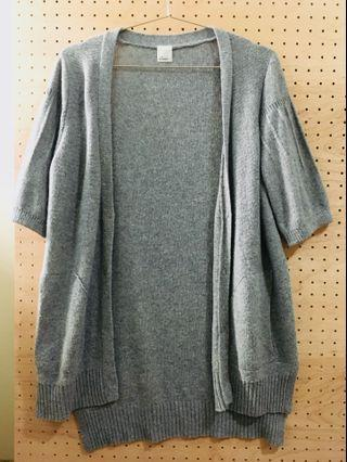 🚚 Gozo 針織短袖長版罩衫
