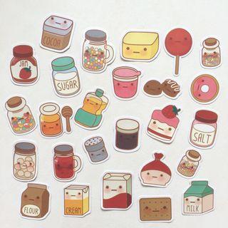Baking supplies flake stickers
