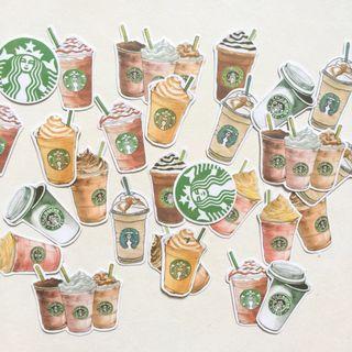 Starbucks Flake Stickers